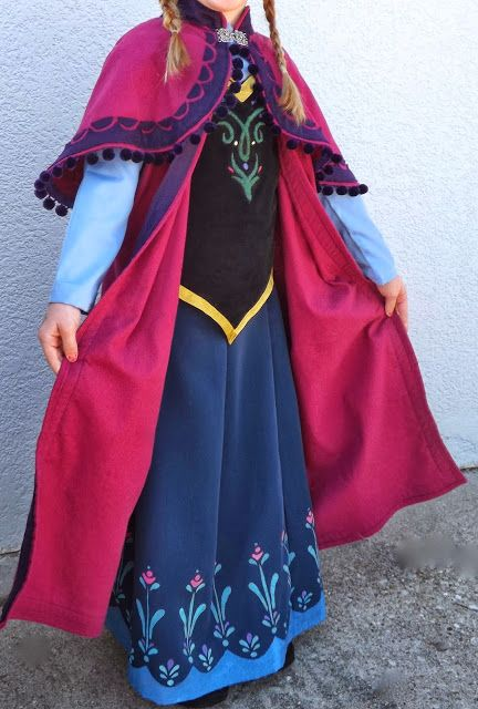 15+ Awesome DIY Princess Anna Costume Tutorials for Little Girls