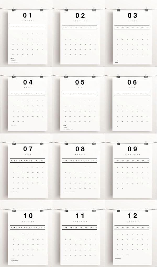 Calendar Design Behance : Best calender images on pinterest calendar design