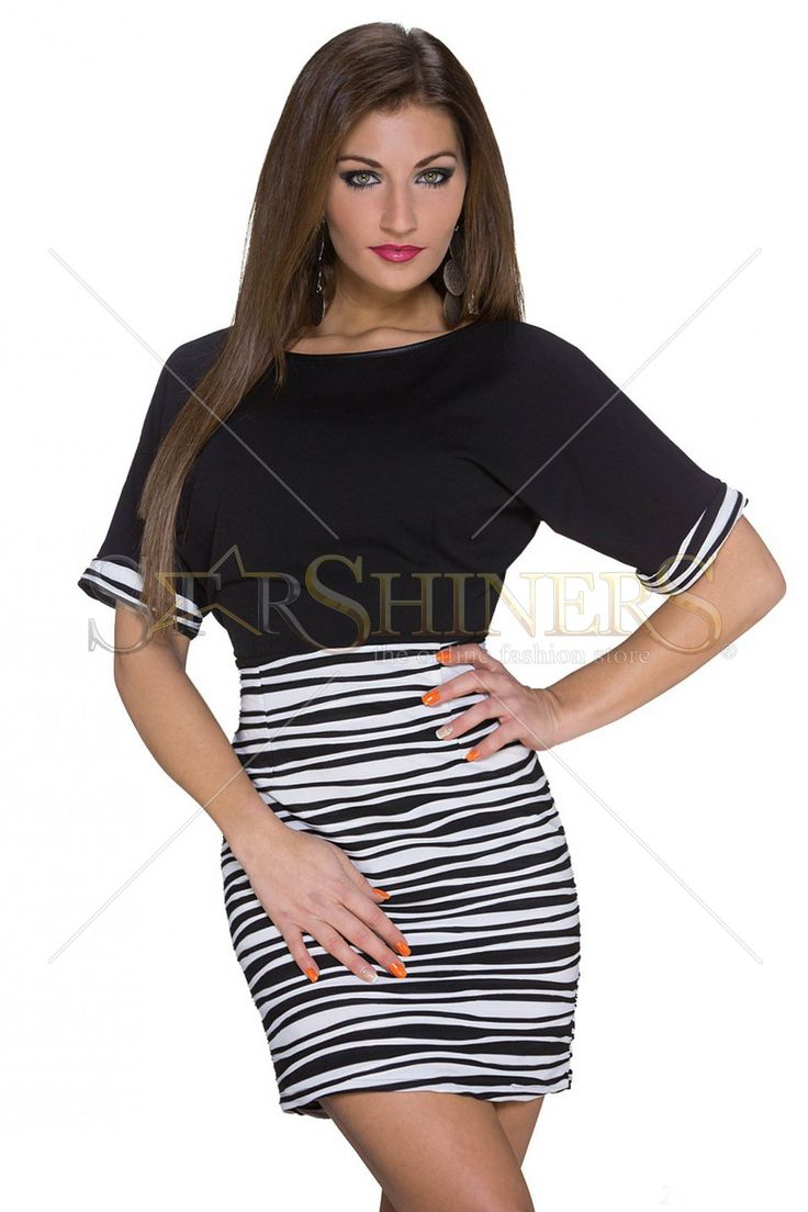 Casual Diva Black Dress