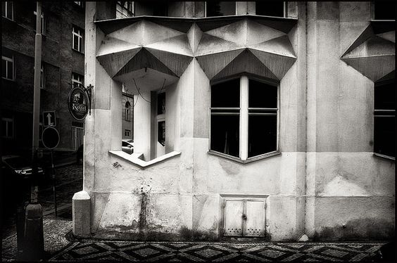 Josef Chochol @ Hodek Apartment House Prague [1913-1914] #1 by d.teil, via Flickr: