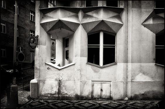 Josef Chochol @ Hodek Apartment House Prague [1913-1914] #1 by d.teil, via Flickr: