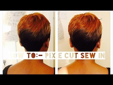 Pixie Cut Sew In Hair Pinterest Sew Watches And Sew Ins