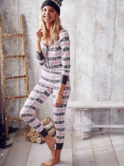 Fireside Onesie Pajama - The Fireside Collection - Victoria's Secret