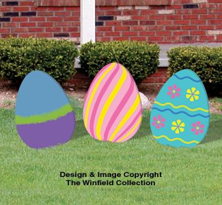 Diy:Large Easter Eggs Woodcraft Pattern Set would be cute with names on each#woodworking#yard art ideas