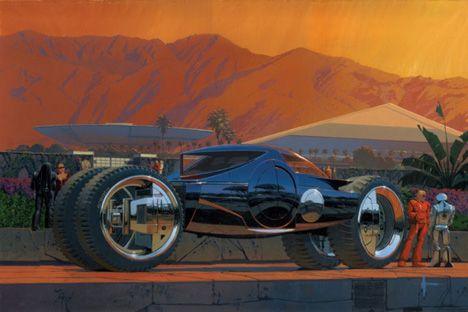 Syd Mead.: Car, Concept Art, Future, Scifi, Illustration, Sydmead, Sci Fi, Syd Mead Megacoach 2010 Jpg, Design