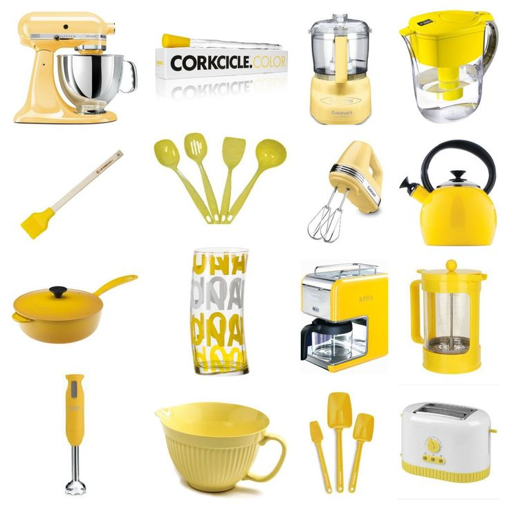 This is going to be a brief series on colorizing your kitchen. Today is yellow! Next up: aqua.