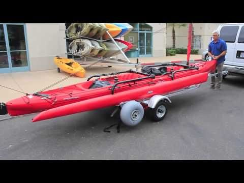 Hobie Tandem Island Custom Trailer Demonstration by Fastlane Kayaking