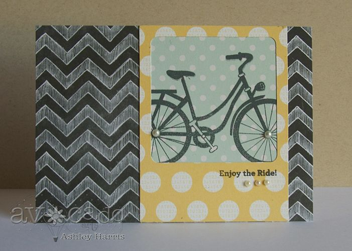 Love this bicycle!!  Created this card using the new Stuck on You stamp set from @Avocado Arts!