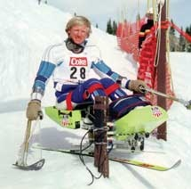 Peter Axelson – Designed first snow sit ski in U.S. and formed his own company, Beneficial Designs. The sit ski developed after Axelson tried the Pulk and knew he could improve it. He designed the Arroya, which he demonstrated at the 1978 Handicapped National Ski Championship. The Arroya was internationally introduced at the World Disabled Ski Championships in Geilo, Norway in 1980.  www.dsusa.org