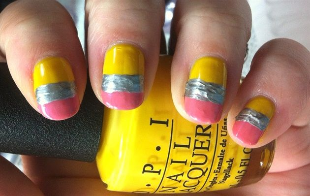 Pencils - Nail Art Gallery by NAILS Magazine