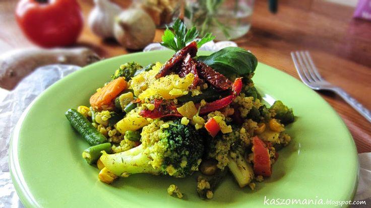 Kaszomania - pomysły na dania z kaszy jaglanej: Kasza jaglana z warzywami na patelnię