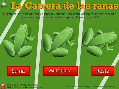 """http://lacasetaespecial.blogspot.com.es/2014/01/carrera-de-las-ranas-joc-de-calcul.html La Caseta, un lloc especial: """"La carrera de las ranas"""": joc de càlcul mental"""