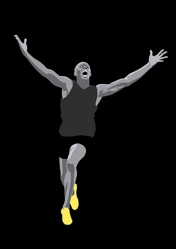 Usain Bolt - the first man to hold both the 100 and 200 metre world records since fully automatic time measurements became mandatory in 1977.
