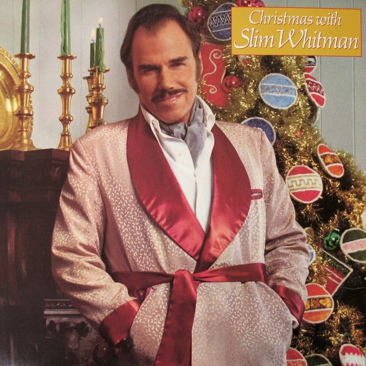 Christmas With Slim Whitman LP Record 12in Epic – JE36847 1980 Holiday Songs #Christmas