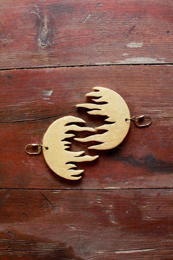 Roots earrings branch jewelry tree earrings tree by TACEHandmade
