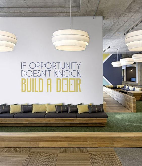 Office wallpaper art. Work space. Office space. Positive quotes.  Work. Meet. Grow with Factory Forty, the coworking space that allows you to work in the sunshine, right in the heart of Brussels.  Coworking : https://www.factoryforty.be/coworking-space-brussels/  Meetings & events : https://www.factoryforty.be/events-meeting-room-brussels/