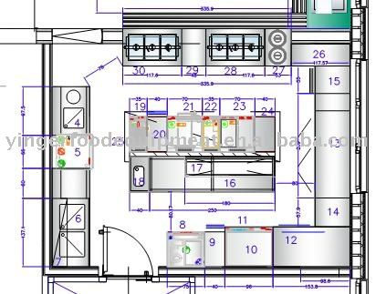 Commercial hotel kitchen project 05 kitchen equipment Commercial kitchen layout plan