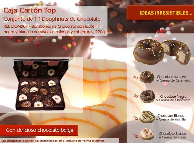 ¡No hacer frente a nuestros deliciosos donuts de chocolate! ¡Ellos son deliciosos!