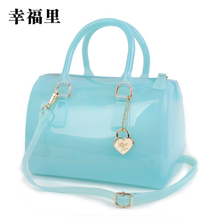 2014 women's cross-body handbag candy color bags transparent bag free shipping $45.00