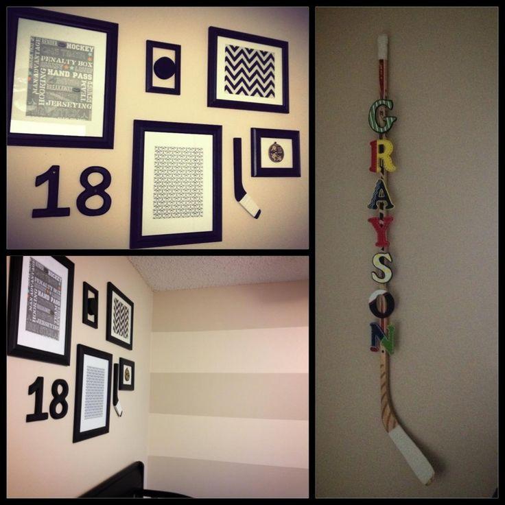 Baby boy's hockey room