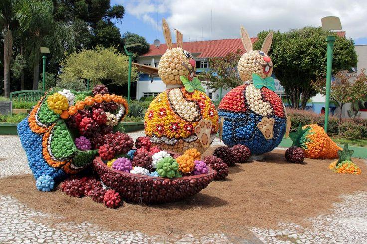 Artesanato Jardim Da Estrela ~ Decoraç u00e3o de páscoa com garrafas PET Artesanato com Reciclagem O mundo do reaproveitamento