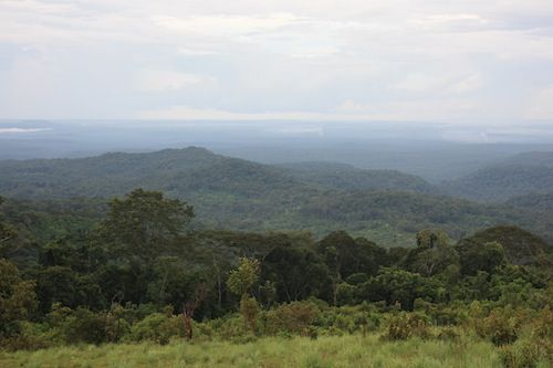 View over the hills of Mondulkiri at the Ocean of Trees view point