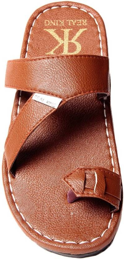 Foot Clone Real King Elegant D.Brown Slippers Men D.Brown Sandals