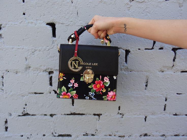 ABRIL BLACK FLORAL COLLECTION by Nicole Lee  #nicolelee #nicoleleeusa #minibag #handbag #purse #NLlook