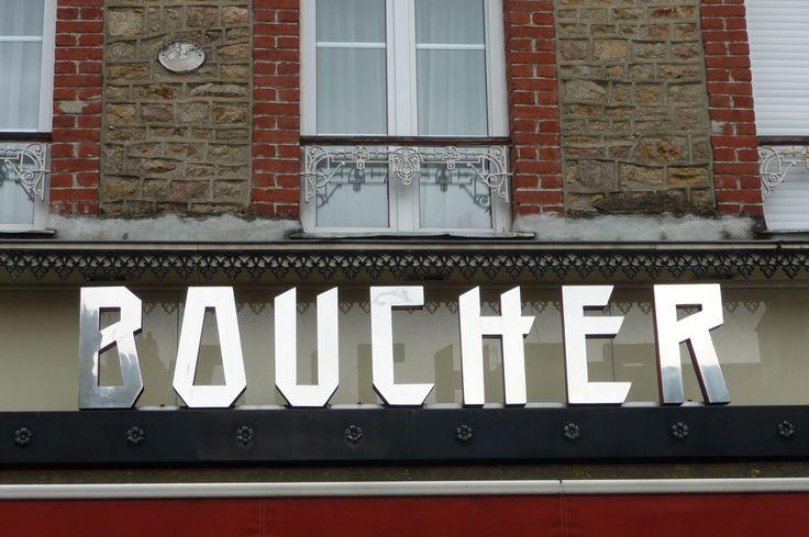 stylish french butcher