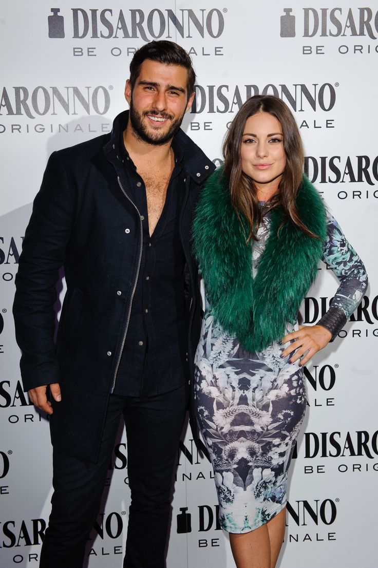 Louise Thompson and Alik Alfus arriving at the DISARONNO Wears VERSACE launch event