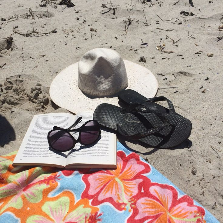 Beach pack - towel, sunnies, hat, thongs and the all important, book.