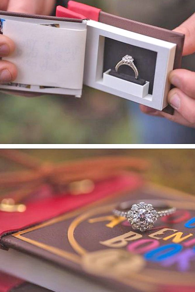 Creative Engagement Ring Boxes For Perfect Proposal ❤ See more: http://www.weddingforward.com/engagement-ring-boxes/ #weddings