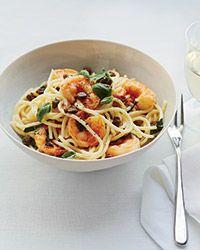 Lemon Spaghetti with Shrimp Recipe on Food & Wine