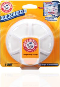 ARM & HAMMER™ Fridge Fresh™ Refrigerator Air Filter- wouldn't this be cool for a job, bathroom wall?