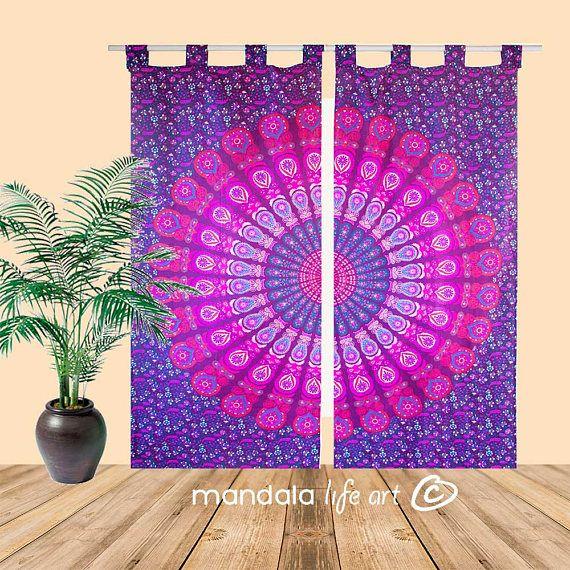 Bohemian Hippie Vorhänge böhmische Fensterbehandlung Mandala