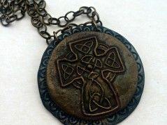 Přívěsek fimo Keltský kříž 3