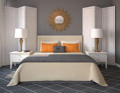 white and orange bedroom – Sistem As Corpecol
