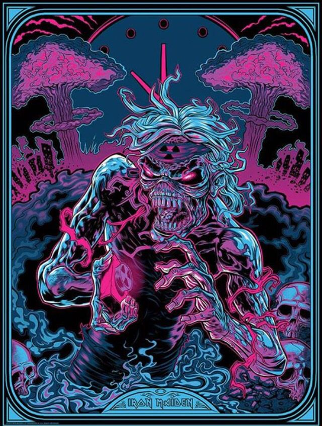 Pop art inspired by Iron Maiden on display at 2015 San Diego Comic Con