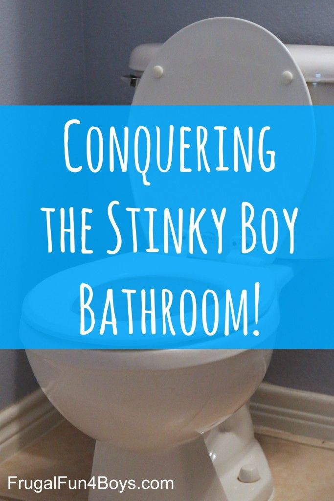 Conquering the Stinky Boy Bathroom - Ideas for dealing with the lingering pee smell!
