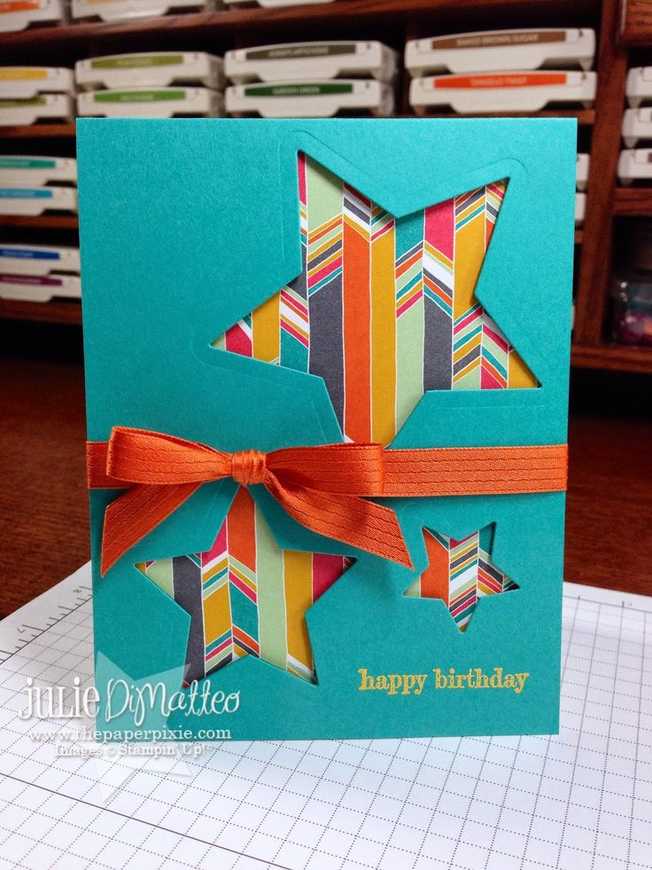 The Paper Pixie: Stampin' Up! Quick & Easy Confetti Celebration Stars Birthday Card