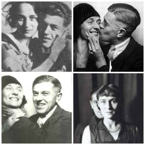 René Magritte with wife Georgette Berger, 1922-1929