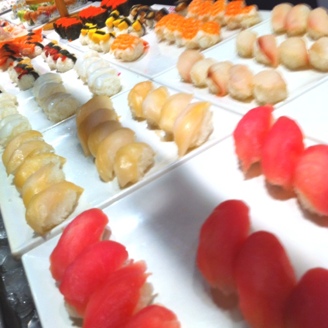 Sushi buffet.