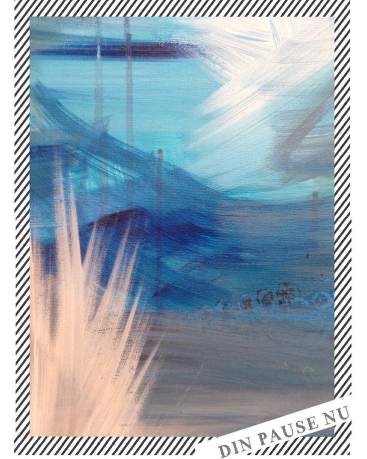 Zoom ind på et stort maleri -  artbyzabinecarolinelunahøstergaard Galleri /DIN PAUSE NU https://m.facebook.com/DINPAUSE/ @dinpause