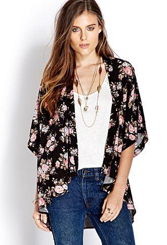 Free Spirit Floral Kimono | FOREVER21 - 2000073246