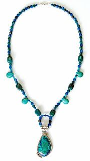 Eclectic Design Choices - Designs for Your Life: Design This – Beaded Necklace to Match Azurite and Malachite Pendant