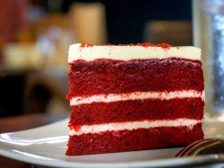 Red velvet cake.  Anna Olson