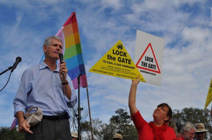 Drew Hutton, elder statesman of Australian green politics and Lock The Gate alliance