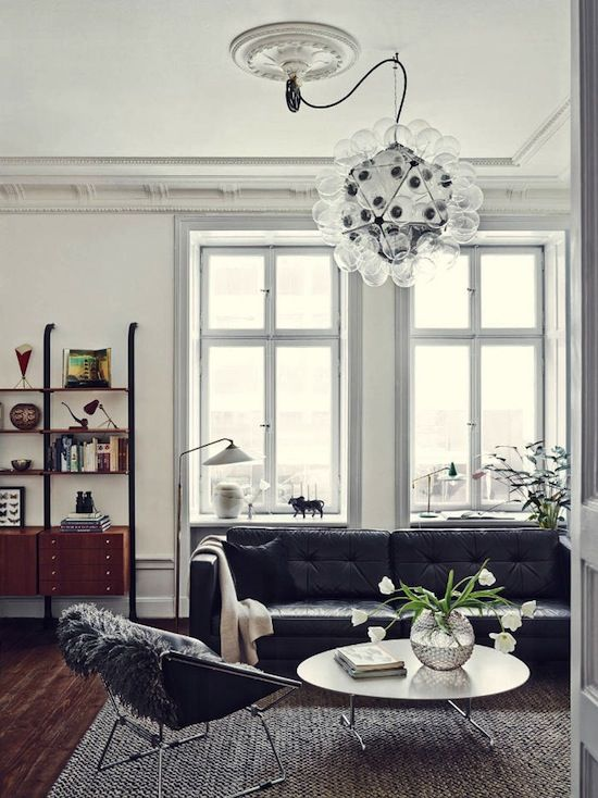 Etc Inspiration Blog Gorgeous Mid Century Modern Stockholm Apartment Stylist Joanna Lavén Via Design Milk Living Room Bookshelf Leather Sofa Pendant Light photo Etc-Inspiration-Blog-Gorgeous-Mid-Century-Modern-Stockholm-Apartment-Stylist-Joanna-Lave3010n-Via-Design-Milk-Living-Room-Bookshelf.jpg