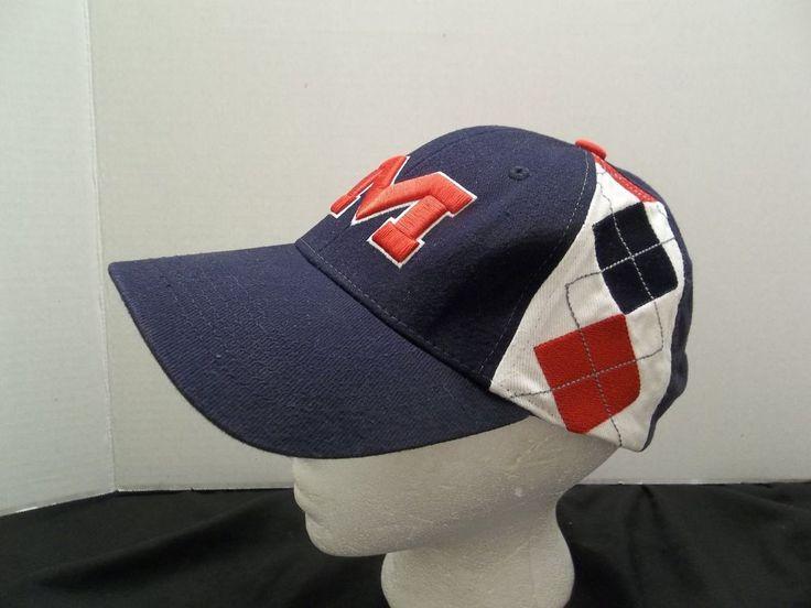 University of Mississippi Red & Blue Hat Adjustable Ole Miss Cap NCAA