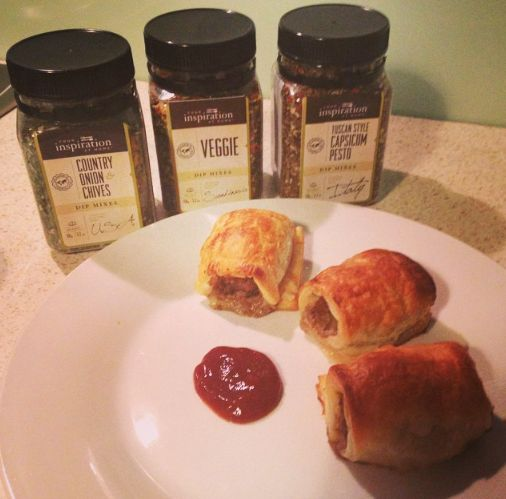 YIAH Sausage Rolls - two different flavour combinations - guacamole dip mix is so good, chilli bites give a good kick